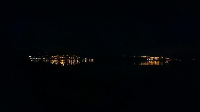 The water was fairly still tonight.