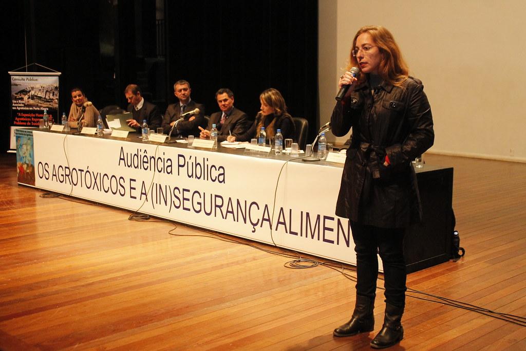 Karen Friederich, da Escola Nacional de Saúde Pública Sergio Arouca, reforçou que ocorreu um aumento expressivo do uso de agrotóxicos nas lavouras brasileiras.JPG