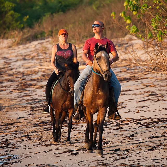 Horseback riding in Playa Pelada