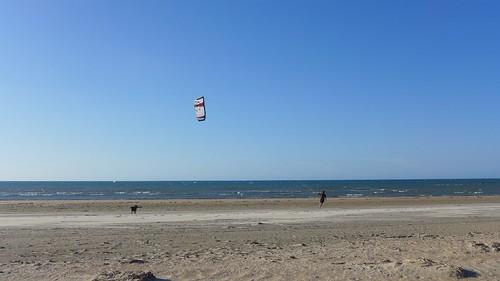 Moira pronta con il suo kite