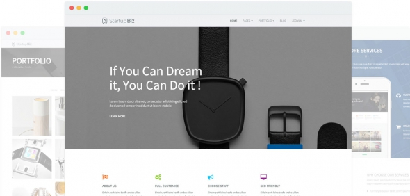Startup Biz v1.4 - Drag & Drop Multipurpose Joomla 3.x Template