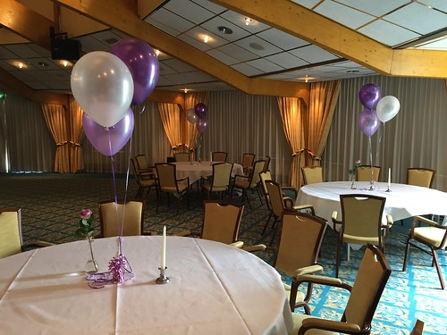 Tafeldecoratie 3ballonnen Carlton Oasis Hotel Spijkenisse