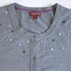 Iron Craft '13 #9 - Button Embellished Cardigan
