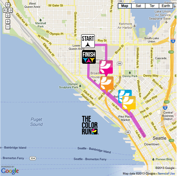 ColorRunSeattle 2013 Race Course