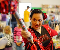 131/365: Cheerleader Sith Lord with Double Pompom Lightsaber cosplay - ANS Sci-Fi & Comic Con 2013