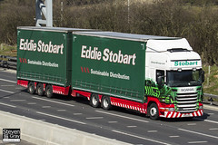 Scania R440 6x4 Curtainside with Drawbar Curtainside Trailer - PE61 KOU - Libby Rose - Eddie Stobart - M1 J10 Luton - Steven Gray - IMG_7550
