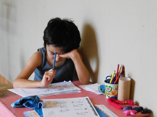 Trabajando escuela en casa