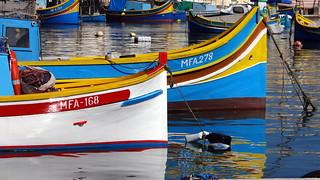 Marsaxlokk  Malta classic boats