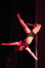 sports(0.0), aerialist(0.0), performing arts(1.0), pole dance(1.0), entertainment(1.0), dance(1.0), performance(1.0), acrobatics(1.0), performance art(1.0),