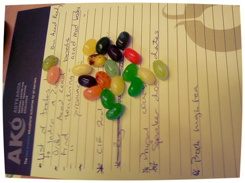 Jelly beans and lists