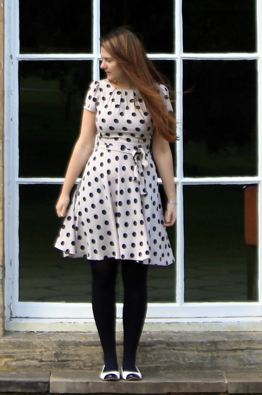 OOTD, outfit of the day, polka dot dress, flats