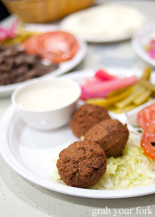 falafel plate at el jannah lebanese charcoal bbq chicken punchbowl