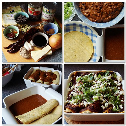 Vegetarian Bean Enchiladas