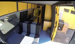 Yellow Mercedes Sprinter