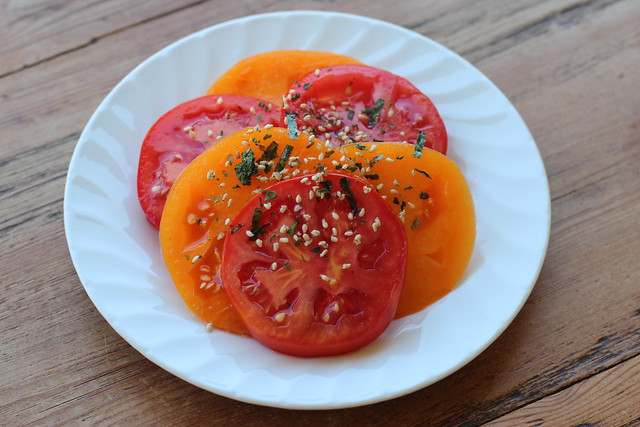 Tomatoes with Furikake