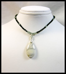 Willow Jasper & Black Spinel Necklace