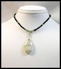 Willow Jasper & Black Spinel Necklace