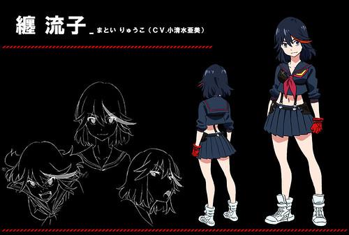130812(4) - 10月份刀劍格鬥校園動畫《KILL la KILL》發表「纏流子、鬼龍院皐月」聲優、四天王造型!