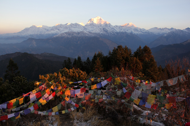 Stunning sunrise view at Poon Hill