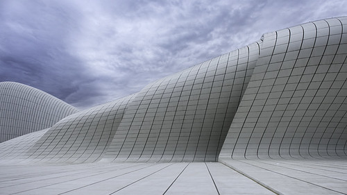 white architecture clouds europe curves azerbaijan simple minimalist zahahadid momentaryawecom heydaraliyevcenter