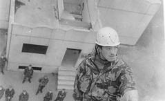 Gordon Highlander Toby Ingram in Rhuelaban  fighting village Berlin 1993.