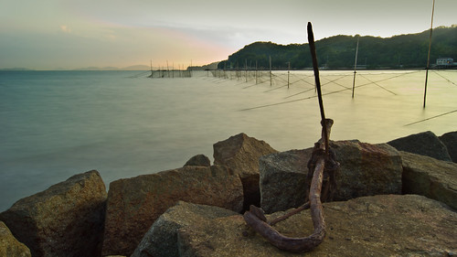 sunset japan rust nd anchor sammybeach