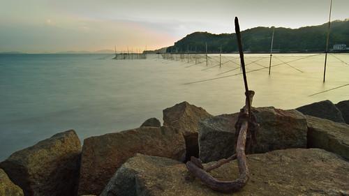 sunset japan rust nd anchor sammybeach