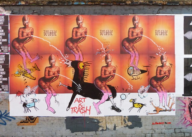 Art Is Trash subverts illegal fly posters