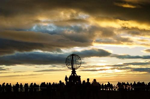 sunset norway nordkapp 挪威 北角 永晝 日不落 thepolarday