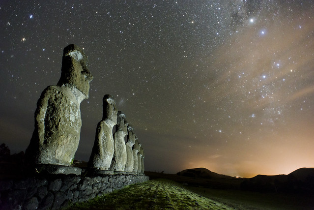 Stargazing with the Moai