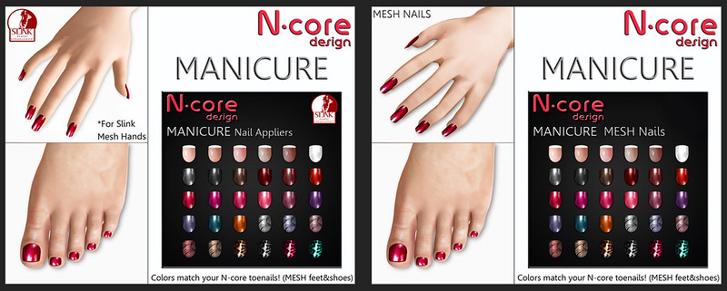 N-core MANICURE (Nail Appliers for Slink hands & Mesh Nails attachable)