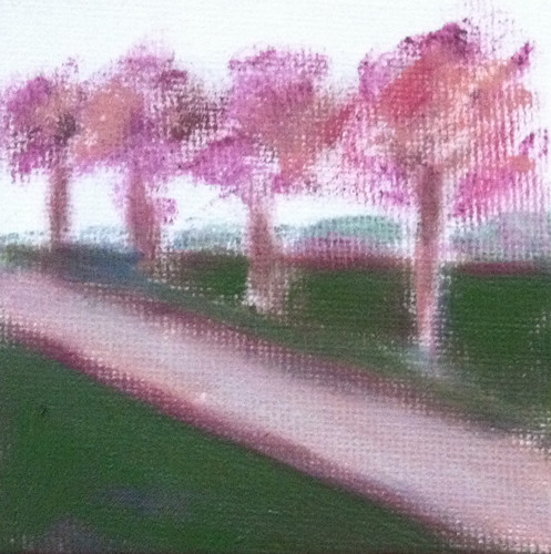 Row of Trees (Mini-Painting as of October 7, 2013) by randubnick