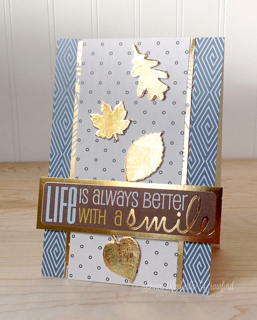 Smile with Scrapbook Adhesives by 3L designer shapes by Kimberly Crawford