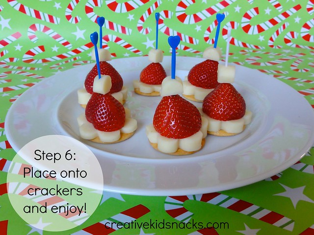 Creative Kid Snacks: Santa Hat Poppers - perfect kids finger food for a Christmas party!