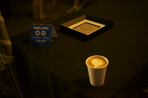 Perfect heart on a latte at a festival!