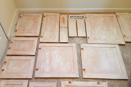 primed cabinets