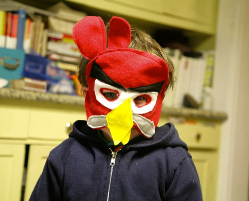 Angry birds masks.