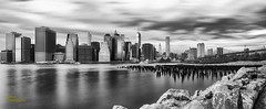 Pano Downtown Manhattan B&W
