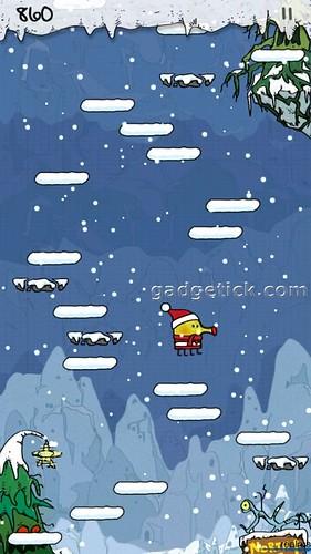 Новогодний Doodle Jump