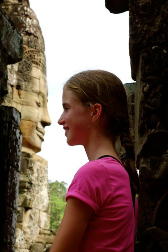 Up close and personal: Bayon faces