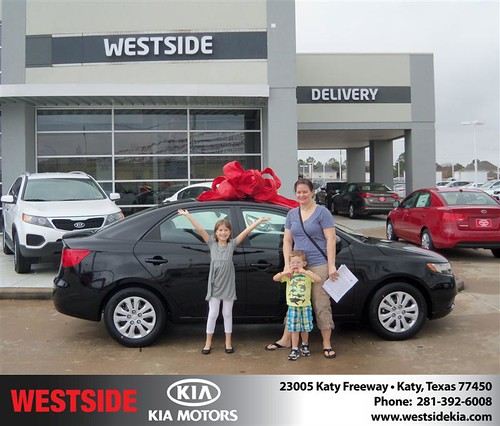 Happy Anniversary to Deanna King on your 2013 #Kia #Forte from Mohammed Ziauddin and everyone at Westside Kia! #Anniversary by Westside KIA