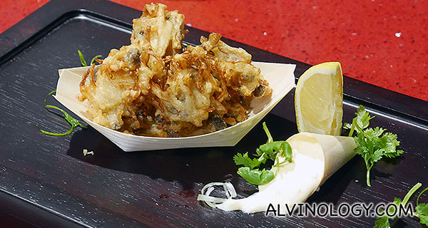 Chef Eric Teo's mixed mushroom fried with beer batter