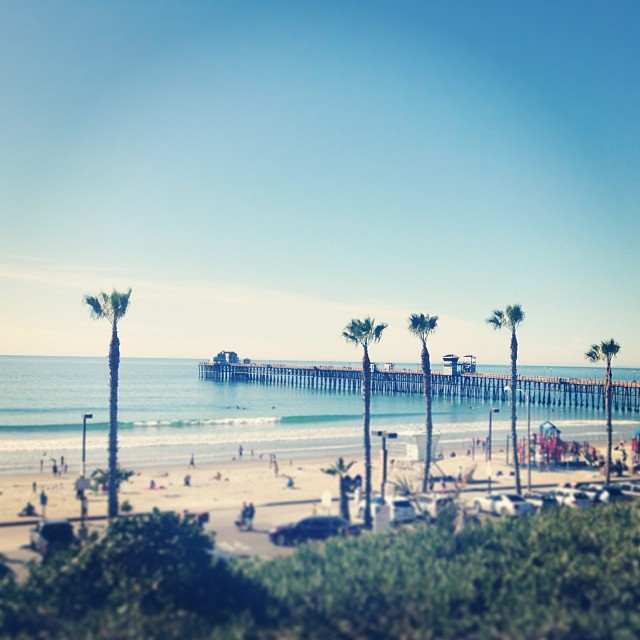 More from my goodbye to the Oceanside Pier yesterday, because pretty. (& running though CLT requires pretty).