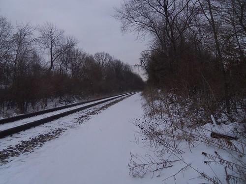 railroad winter illinois tracks godfrey febuary