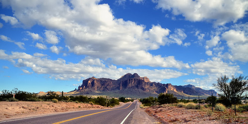 road arizona sky usa cloud landscape geology apachetrail superstitionmountains apachejunction 2013 d3200 edk7