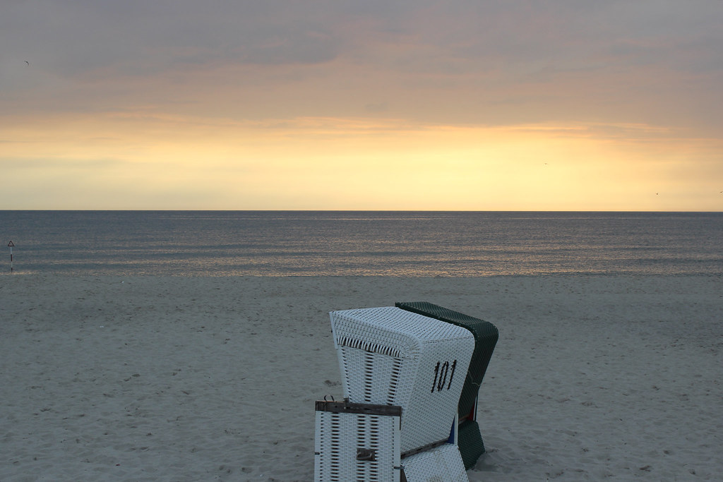 Sunset at Sylt's Beach