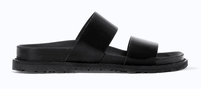 zara flat chunky sandals