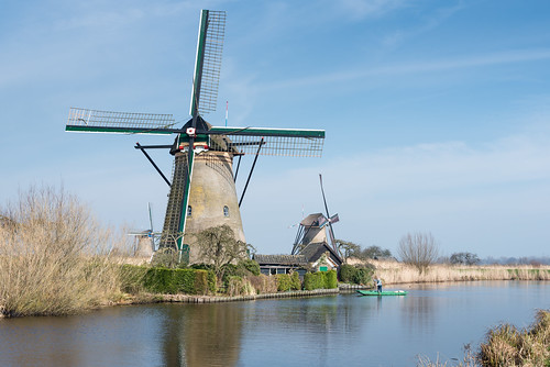 Windmills in Kinderdijk by RuudMorijn