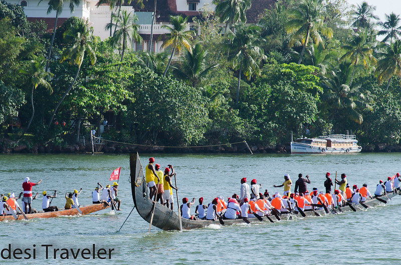 Snake boats getting ready for race