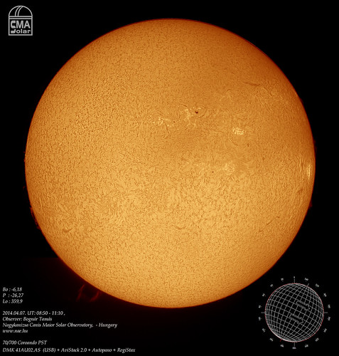 H-alpha Sun - 2014.04.07. - Bognár Tamás - Nagykanizsa